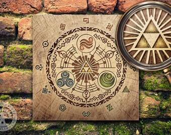 The Legend of Zelda: Gate of Time Woodblock Art