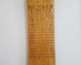 Brotherly Love - Engraved Skateboard Art - Limited Edition