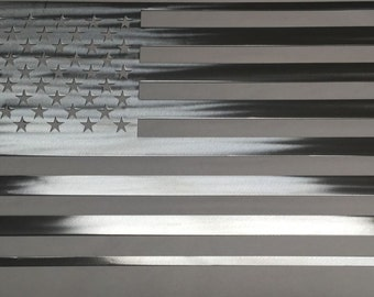 Metal American Flag Steel Flag