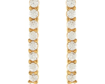 Gold-plated earrings with cubic zirconia
