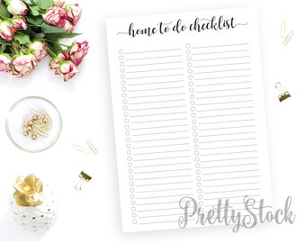 Home To Do Printable, Home To Do Printable Planner Inserts, Home To Do Checklist, A4, A5, Letter, Half letter, Binder Printable, Home Binder