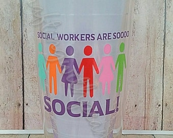 social worker cup, social cup, holding hands, all together, we are one, all lives matter, social worker gift