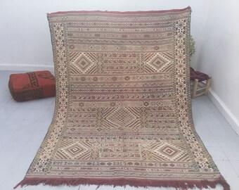 wonderful Moroccan wool kilim rug