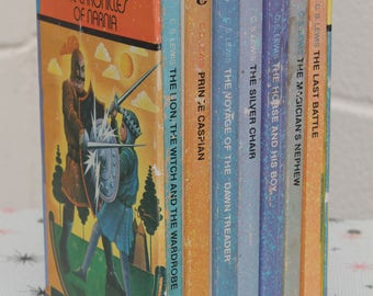 Vintage C.S. Lewis The Chronicles of Narnia 7 Book Set 1971 4th Print
