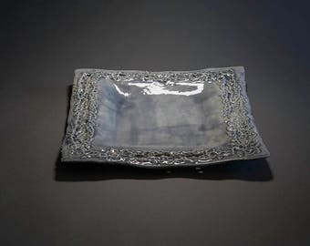 Blue Lacey platter