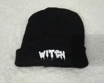 Grunge Goth Witch Beanie Hat