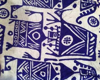 Tor Asher 1960s Vintage Silk Scarf