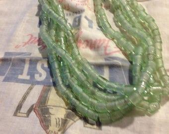 Bottlecap clear African Beads