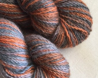 Superfine australian grown and spun baby alpaca. Hand dyed 2 ply laceweight yarn.