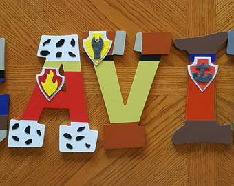 Paw Patrol letters dog letters painted letters