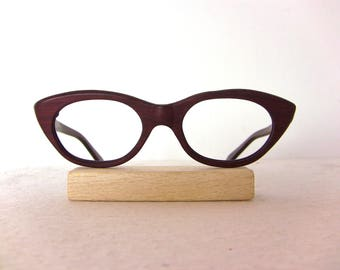 Wood Eyeglasses Exclusive Frame Eyewear New Old Stock FREE SHIPPING Eye Glasses Wooden Woody New Old Stock Tortoise Look Small