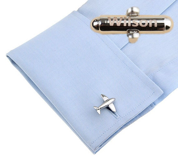 personalizedAirplanecufflinks,Silver Airplane Cufflink, Aviation Cufflinks, Pilot Cufflinks,Airline,Flight attendant gift,Cabin crew gift