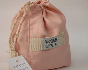 soft canvas drawstring pouch