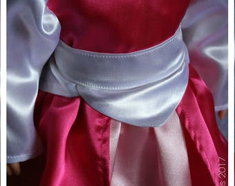 18 Inch Doll Clothes Handmade Pink Satin Princess Doll Dress