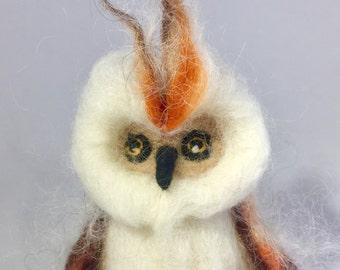 "Handmade Needle Felted Owl / Wool Owl / Baby Owl / Felt Owl Toy / Organic Wool / Funny Owls / Cute Owl/ Art Owl / Lovely Owl/ Mother""s gift"