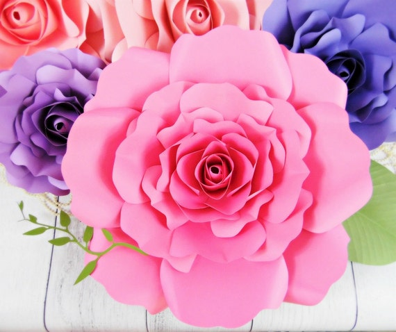 giant paper flower template free - giant paper rose patterns tutorials diy rose flower