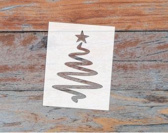Modern Christmas Tree Stencil - FREE Shipping