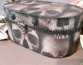Skull box jewellery box steampunk skull ghost horror gothic cogs cosplay valet boxwooden boxlarger box