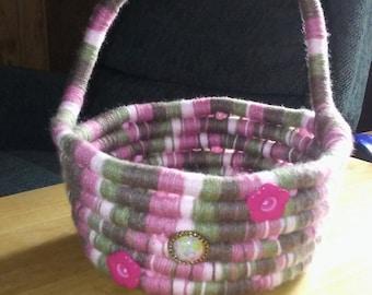 Yarn wrapped basket