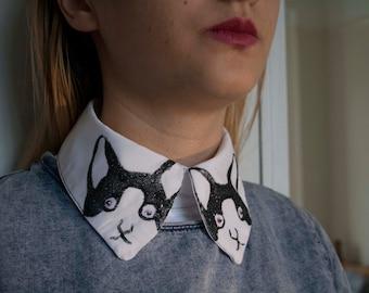 Cat Face Glitter Collar