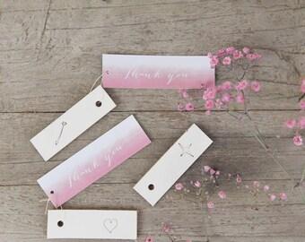 Wedding thank you - Watercolor - wedding favor - trouwbedankjes - personalized