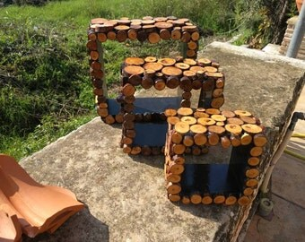 Wooden selves for decoration handmade upcycle with respect to mother nature