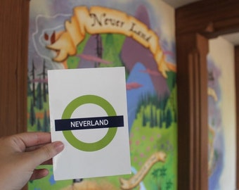Neverland from Peter Pan Disney Underground Art Print