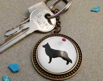 "Keyring ""longhair German Shepherd Dog"""