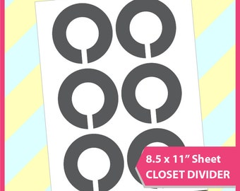 "Instant Download, Closet  Divider Template, PSD, PNG and SVG Formats,  8.5x11"" sheet,  Printable 045"