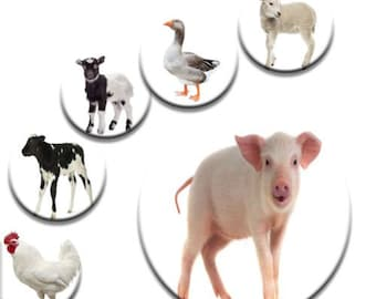 A pack of 6 farm animals Pattern weights Ideal for weighing down patterns on delicate fabrics no need for pins TV sewing Bee
