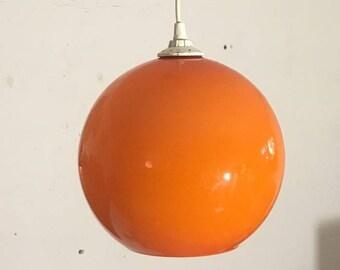 Orange 60s glass ball lamp