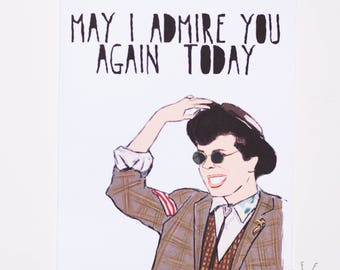 Duckie Dale May I Admire You Greeting Card Pretty In Pink Duckman