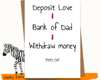 Funny father's day card / Father's day card from kids / Happy father's day card / Step-Dad / Dad /