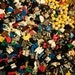 Bulk Lego Lot of 100 + Mini Figure Parts and Accessories Creates 25 Mini Figures Great Gift!