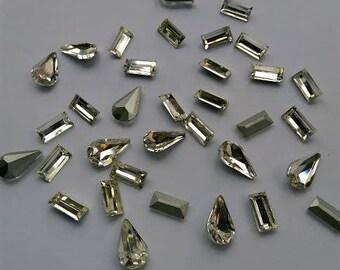 Pointed Back Crystals Rhinestones teardrop 8x13 rectangel 5x10 pointback glass rhinestones crystals beads gems