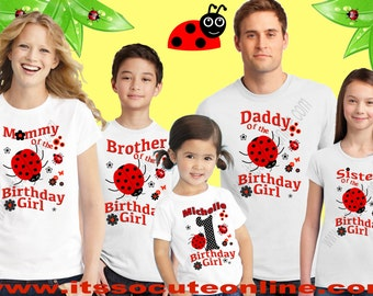 Ladybug Birthday Shirt/Ladybug Family Shirt/Ladybug Shirt/Ladybug theme Family Shirts/Ladybug Birthday Outfit/Lady bug shirt/Ladybug Shirt/