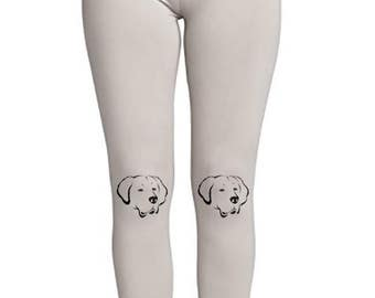 Golden Retriever Face! - Soft Ladies High Waist Leggings