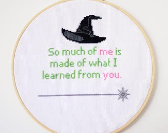 "Wicked | ""For Good"" Cross Stitch PDF Pattern"