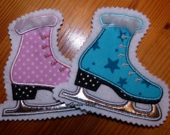 Ice skates, patches, application