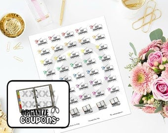 Printable Couponing Planner Stickers