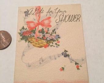 Vintage Bridal shower gift card