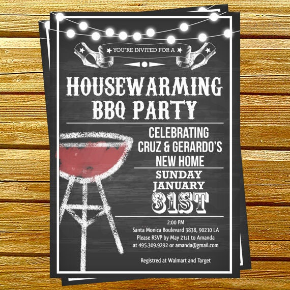 housewarming bbq party invitations printable. Black Bedroom Furniture Sets. Home Design Ideas