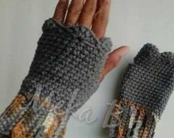 Fingerless Gloves  (Crocheted)