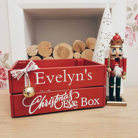 Personalised christmas eve crate box kids