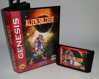 Alien Soldier for Sega Genesis (Plays with NO slowdown on all US consoles) Warranty
