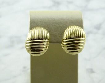 14 K Gold Earrings (pierced)
