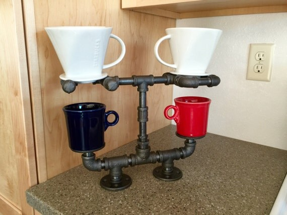 Pour Over Coffee Maker Stand : Pour Over Coffee Maker Coffee Stand Double Cup Stand is Hand