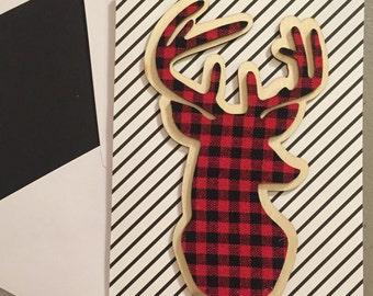 Deer Cards--Buck--Hunter--Plaid--Card set 2