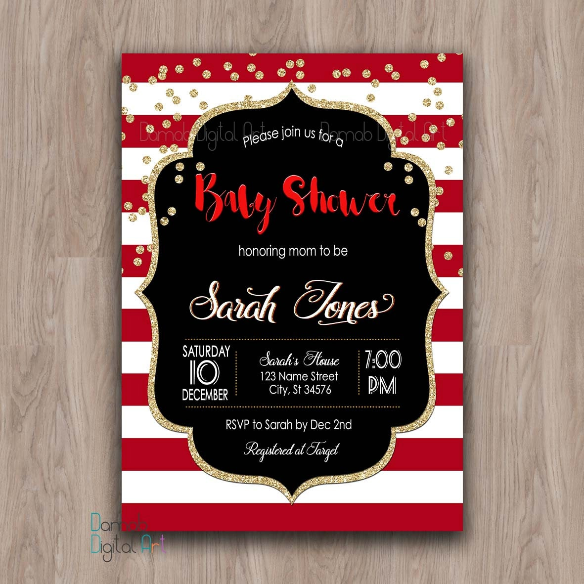 Colorful Christmas Baby Shower Invites Ideas - Invitations and ...