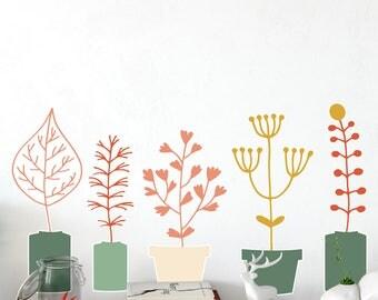 Pot Plants 2 Set Wall Decal
